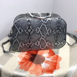 cross body snakeskin print